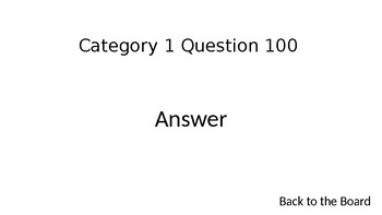Jeopardy Template Basic