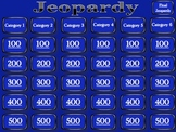 Jeopardy Template - Blank