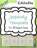 Jeopardy Template - EDITABLE