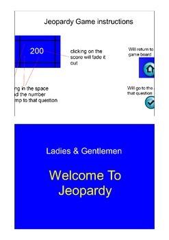 Jeopardy Template Flipchart