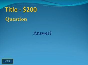 Jeopardy Template - Game for Study and Review