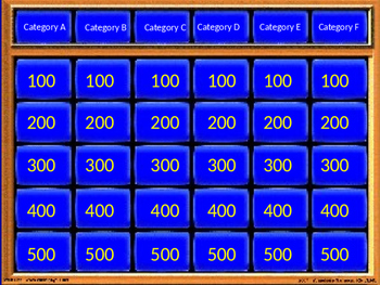 Jeopardy Template (PowerPoint)