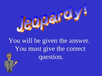 Jeopardy Template PowerPoint for all subjects with scoreboard
