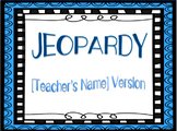 Jeopardy Template for Any Subject!