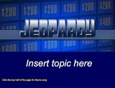 Jeopardy Template for SmartBoard