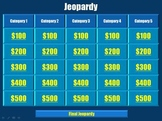 Jeopardy Template (ppt)