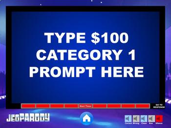 JEOPARODY   EXCELLENT QUALITY Jeopardy Powerpoint Template   MAC U0026 PC