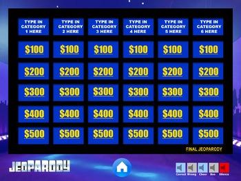 JEOPARODY - EXCELLENT QUALITY Jeopardy Powerpoint Template