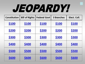 Jeopardy: The Constitution