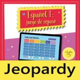 Jeopardy Trivia Game | Spanish 1 Review Game | Interactive