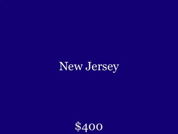 Jeopardy - US Capitals