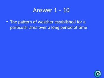 Jeopardy - Weather