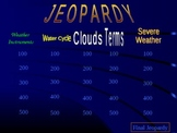 Jeopardy Weather Review Game
