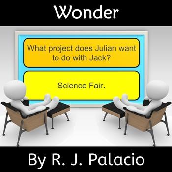 Wonder by R. J. Palacio  Novel Study Review Jeopardy Game
