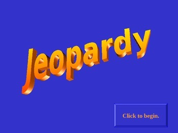 Jeopardy: World War 1