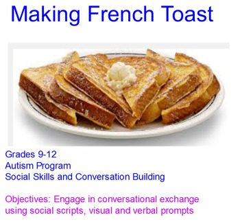 Making French Toast autism life skills whole class activity