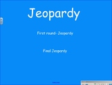 Jeopardy first grade math review