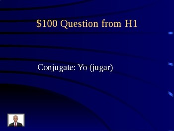 Jeopardy for imperfect verbs