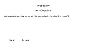 Jeopardy! game for Probability