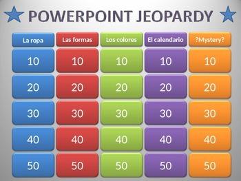 Jeopardy in Spanish!