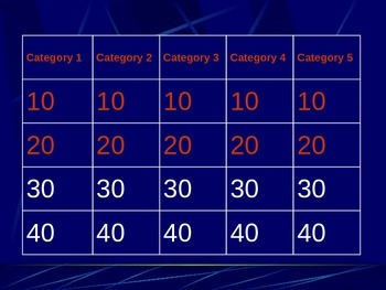 Energy from Plants Jeopardy powerpoint game