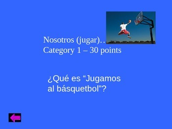 Jeopardy review game/ Realidades 1 4b