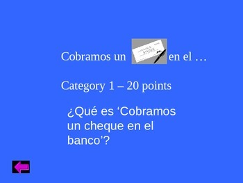 Jeopardy review game Realidades 2 3a