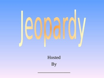 Jeopardy (review on forces Grade 3 science) Ontario