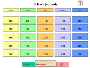 Jeopardy sample template