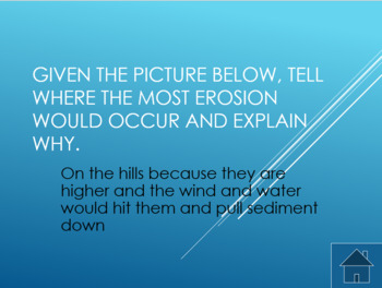 Jeopardy style PPT. game on the basics of Erosion & Deposition