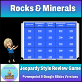 Jeopardy style PPT. game on the basics of Rocks and Minerals