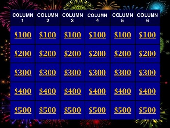Jeopardy -style Template Powerpoint