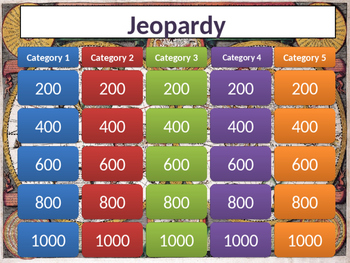 Jeopardy with Answer Slides Template
