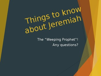 Jeremiah Power Point Notes
