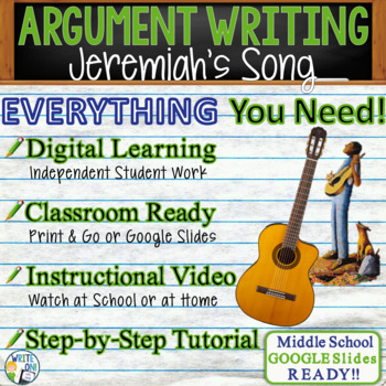 Jeremiah's Song by Walter Dean Meyers - Text Dependent Analysis Argument Writing