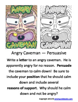 Jeremy Cole's Writing Prompt Angry Caveman