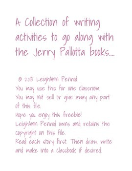 Jerry Pallotta books writing activities
