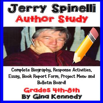 Jerry Spinelli Author Study, Bio, Reading Response Activit