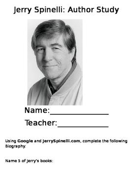 Jerry Spinelli Author Study-Editable