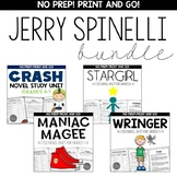 Jerry Spinelli Novel Study Unit BUNDLE for Grades 4-8 Common Core Aligned