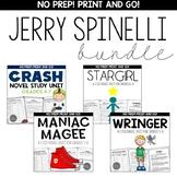 Jerry Spinelli Novel Study Unit BUNDLE for Grades 4-8 Comm