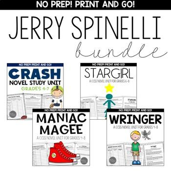 Jerry Spinelli Novel Unit BUNDLE for Grades 4-8 Common Cor