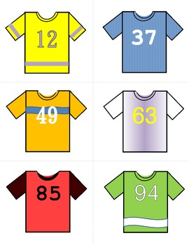 Jersey # Lineup - Ordering and Comparing Numbers 0-100