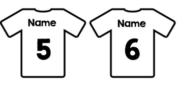 Jersey Name Tags