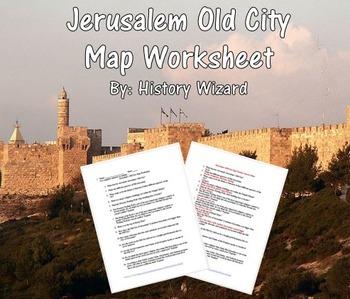 Jerusalem Old City Map Worksheet (Easy To Use)