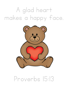 Jesse Bear Bible Verse Printable Pack