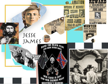 Jesse James - Murder - Train and Bank Robbery - Old West - FREE POSTER