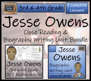 Jesse Owens - 3rd Grade & 4th Grade Close Reading & Biography Bundle