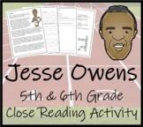 Jesse Owens - 5th & 6th Grade Close Reading Activity