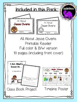 Jesse Owens Activity Pack